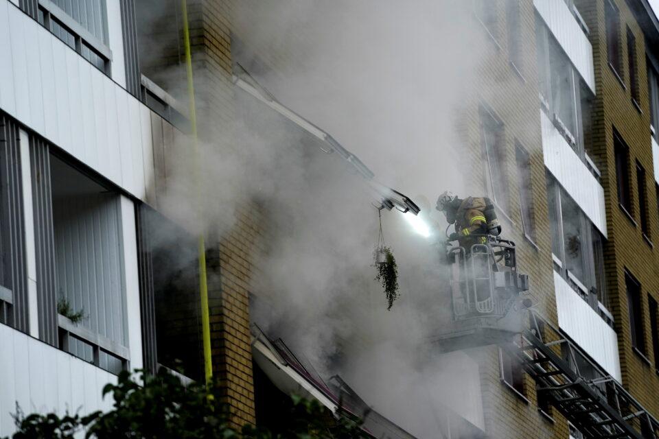 explosion hits building in sweden's gothenburg